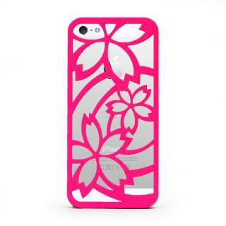 inCUTOUT  切り絵スタイルのiPhone SE/5s/5ケース サクラ ピンク