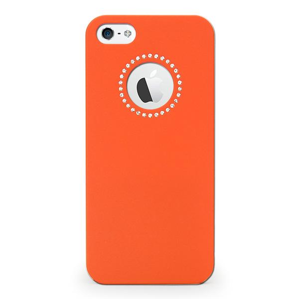 iPhone SE/5s/5 ケース inCUTOUT  切り絵スタイルのiPhone SE/5s/5ケース SWALOVSKI オレンジ_0