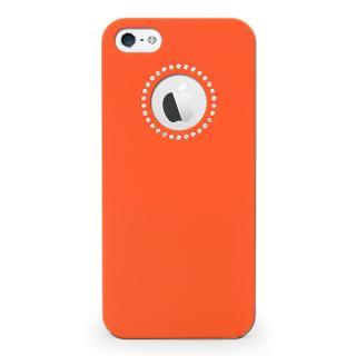 【iPhone SE ケース】inCUTOUT  切り絵スタイルのiPhone SE/5s/5ケース SWALOVSKI オレンジ