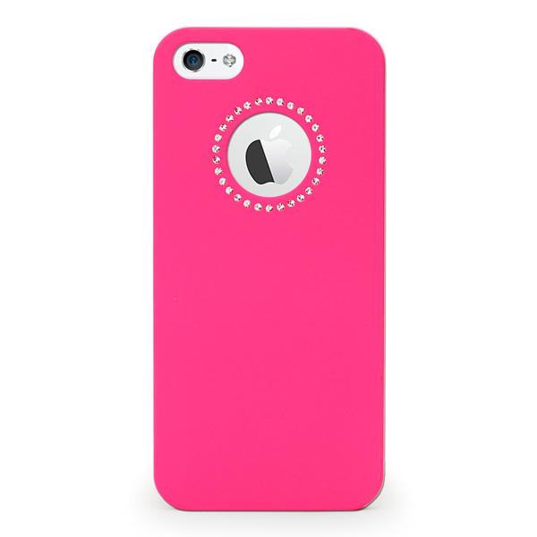 【iPhone SE/5s/5ケース】inCUTOUT  切り絵スタイルのiPhone SE/5s/5ケース SWALOVSKI ピンク_0
