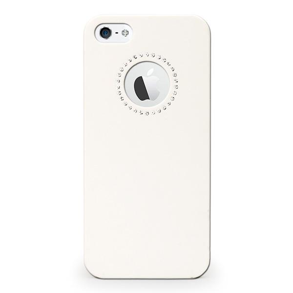【iPhone SE/5s/5ケース】inCUTOUT  切り絵スタイルのiPhone SE/5s/5ケース SWALOVSKI ホワイト_0