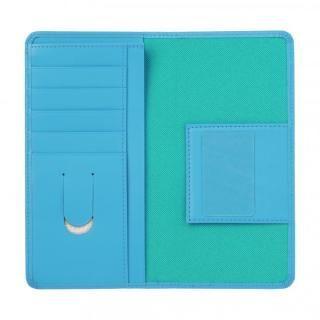 【iPhone8 Plus/7 Plusケース】お札が入るマルチケース Simoni ブルー iPhone 8 Plus/7 Plus_1