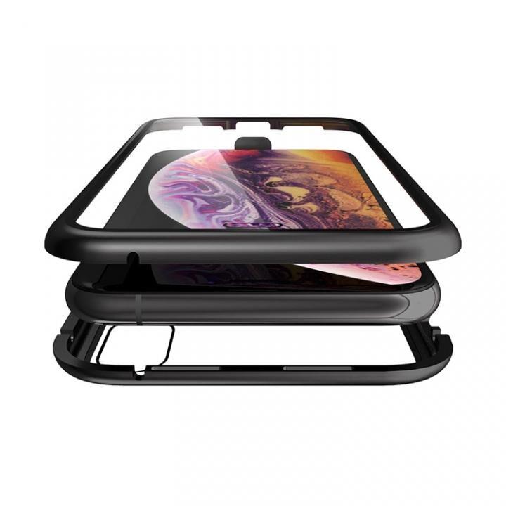 iPhone XS/X ケース Monolith Alluminio(モノリス アルミニオ)/ブラック 両面強化ガラス+アルミバンパー for iPhone XS/X_0