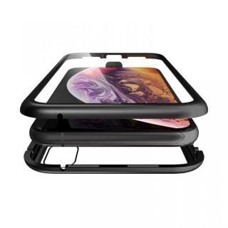 iPhone XS/X ケース Monolith Alluminio(モノリス アルミニオ)/ブラック 両面強化ガラス+アルミバンパー for iPhone XS/X