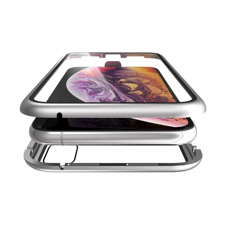 iPhone XS/X ケース Monolith Alluminio(モノリス アルミニオ)/シルバー 両面強化ガラス+アルミバンパー for iPhone XS/X_0