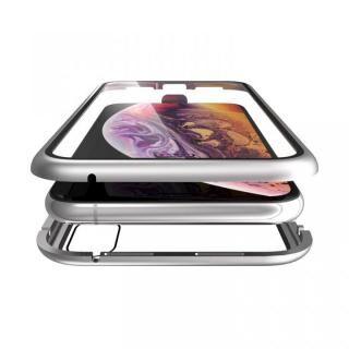 iPhone XS/X ケース Monolith Alluminio(モノリス アルミニオ)/シルバー 両面強化ガラス+アルミバンパー for iPhone XS/X