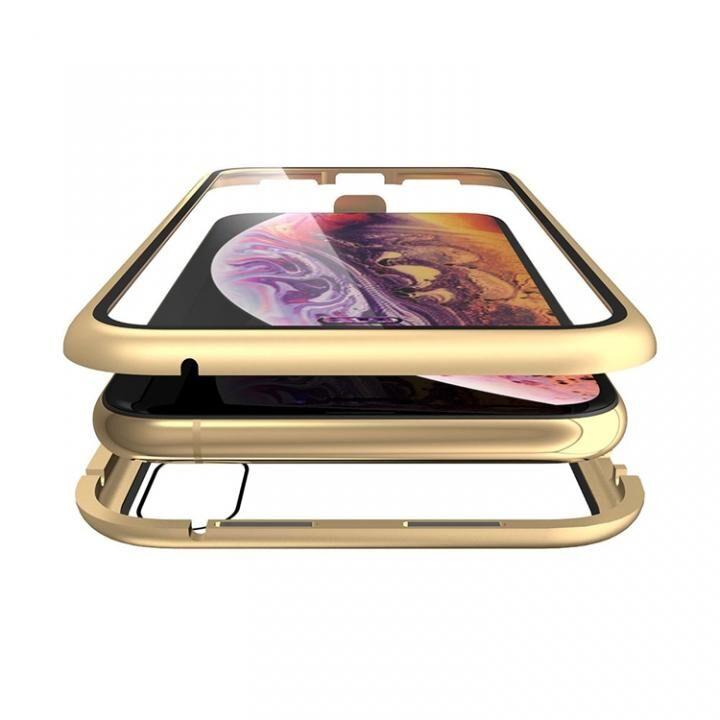 iPhone XS/X ケース Monolith Alluminio(モノリス アルミニオ)/ゴールド 両面強化ガラス+アルミバンパー for iPhone XS/X_0