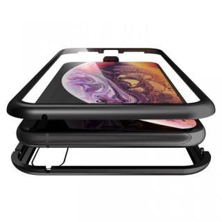 iPhone XS Max ケース Monolith Alluminio(モノリス アルミニオ)/ブラック 両面強化ガラス+アルミバンパー for iPhone XS Max