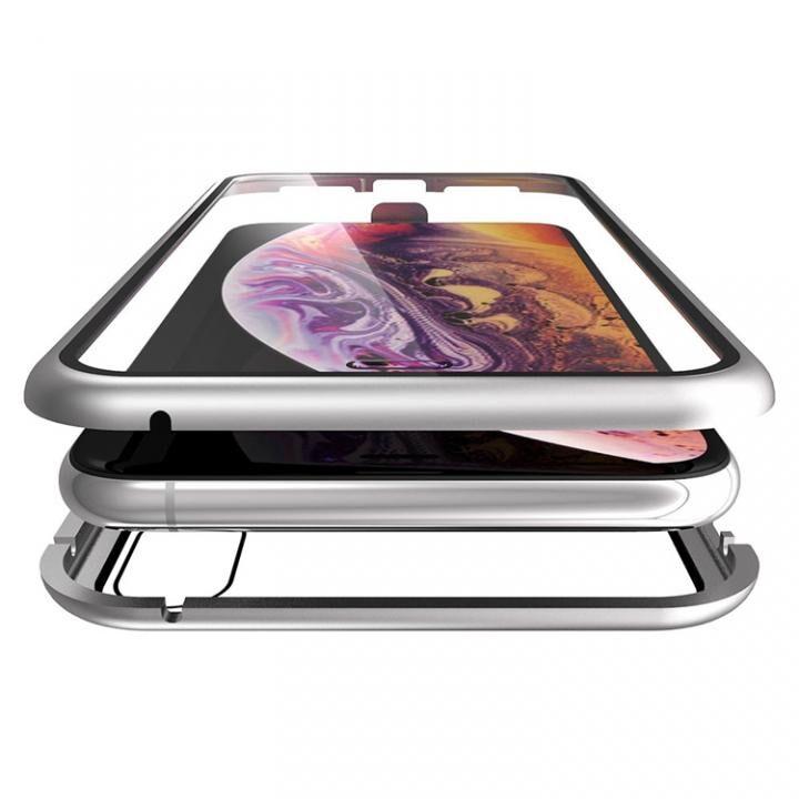 iPhone XS Max ケース Monolith Alluminio(モノリス アルミニオ)/シルバー 両面強化ガラス+アルミバンパー for iPhone XS Max_0