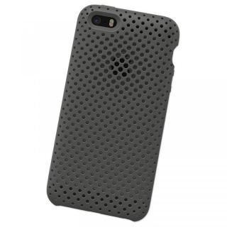 【iPhone SE/5s/5ケース】エラストマー AndMesh メッシュケース グレイ iPhone SE/5s/5