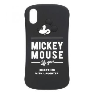 iPhone XS/X ケース iJacket シリコンケース ミッキーマウス/ブラック iPhone XS/X