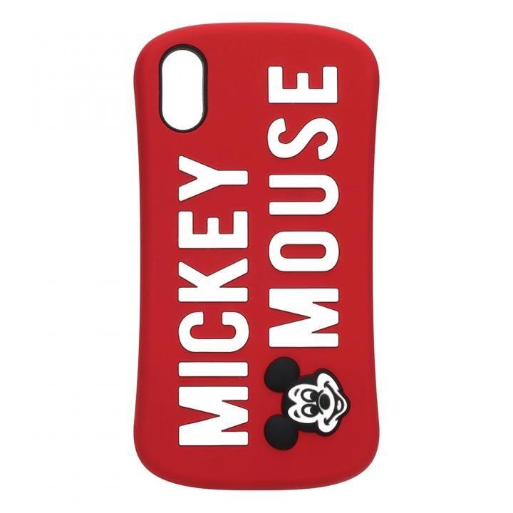 iPhone XS/X ケース iJacket シリコンケース ミッキーマウス/レッド iPhone XS/X_0