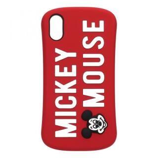 iPhone XS/X ケース iJacket シリコンケース ミッキーマウス/レッド iPhone XS/X