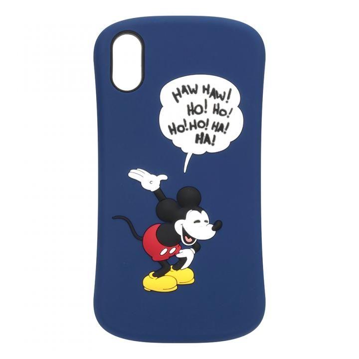iPhone XS/X ケース iJacket シリコンケース ミッキーマウス/ネイビー iPhone XS/X_0