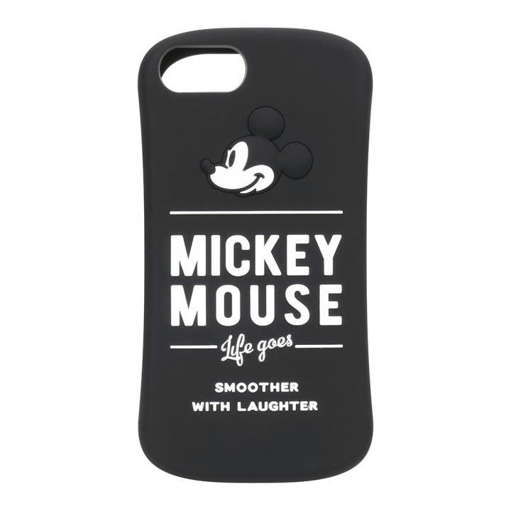 【iPhone8/7/6s/6ケース】iJacket シリコンケース ミッキーマウス/ブラック iPhone 8/7/6s/6_0