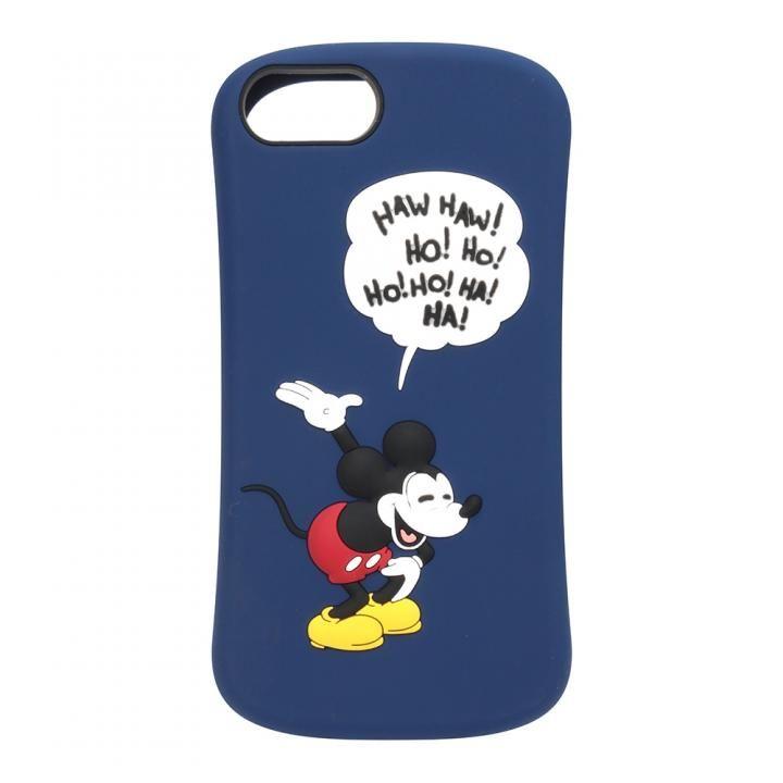 【iPhone8/7/6s/6ケース】iJacket シリコンケース ミッキーマウス/ネイビー iPhone 8/7/6s/6_0