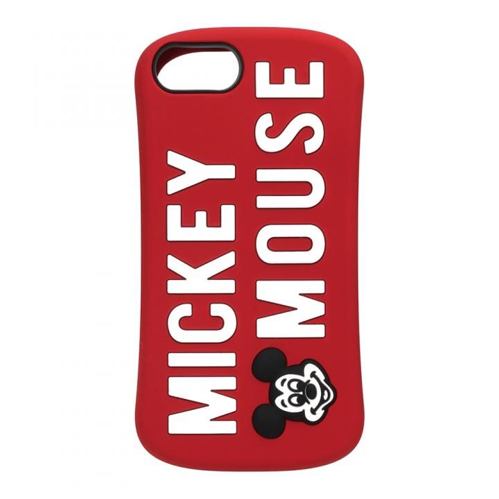 【iPhone8/7/6s/6ケース】iJacket シリコンケース ミッキーマウス/レッド iPhone 8/7/6s/6_0