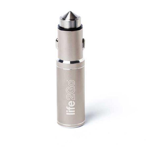 バッテリー内蔵USBカーチャージャー Life2Go ライトゴールド