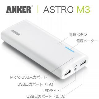 [13000mAh] Anker Astro M3 モバイルバッテリー USB_2