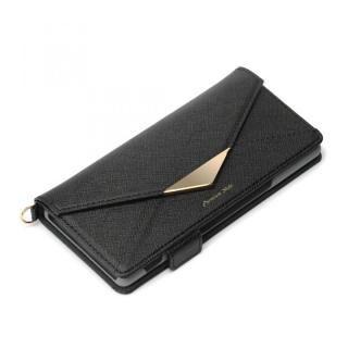 Xperia 5用 ダブルフリップカバー レター型 ブラック【7月下旬】