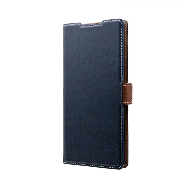Galaxy Note 10+ SC-01M/SCV45 薄型軽量PUレザーフラップケース「PIECE」 ネイビー_0