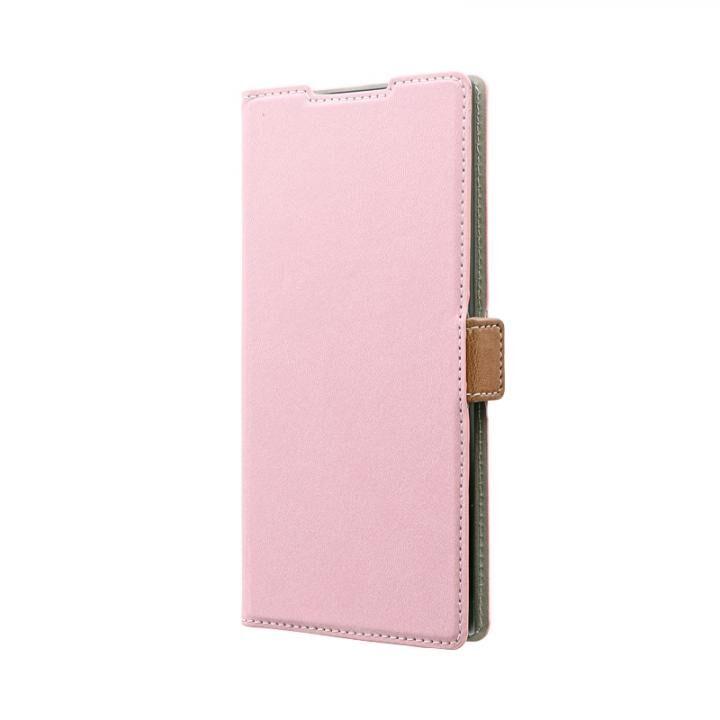 Galaxy Note 10+ SC-01M/SCV45 薄型軽量PUレザーフラップケース「PIECE」 ダスティピンク_0