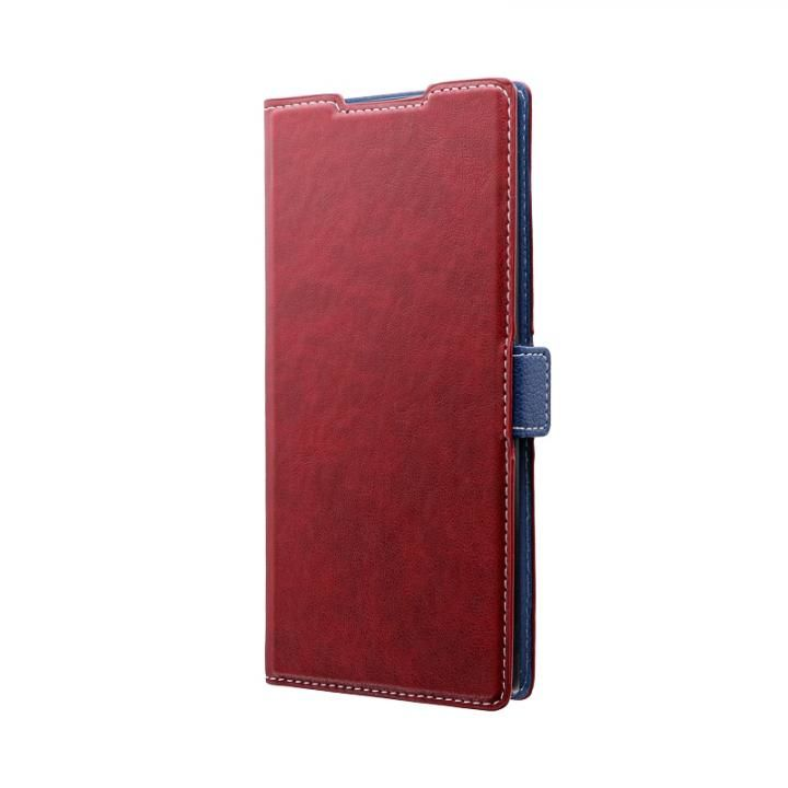 Galaxy Note 10+ SC-01M/SCV45 薄型軽量PUレザーフラップケース「PIECE」 レッド_0