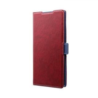 Galaxy Note 10+ SC-01M/SCV45 薄型軽量PUレザーフラップケース「PIECE」 レッド