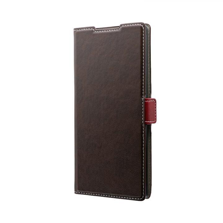 Galaxy Note 10+ SC-01M/SCV45 薄型軽量PUレザーフラップケース「PIECE」  ブラウン_0