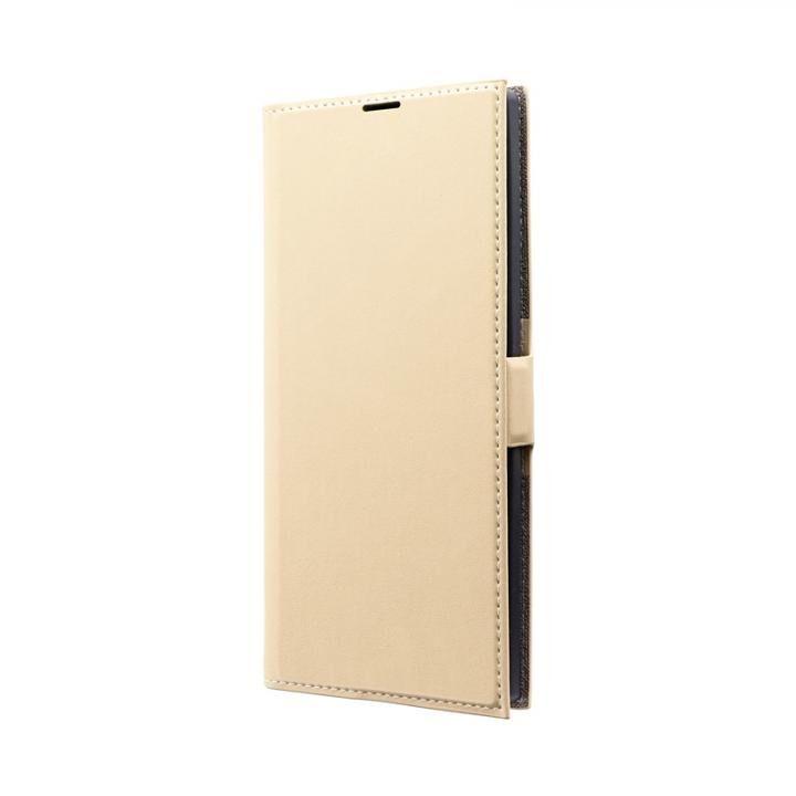 Galaxy Note 10+ SC-01M/SCV45 薄型PUレザーフラップケース「PRIME」 ベージュ_0