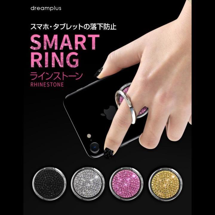 Smart Ring スマホリング ラインストーン シルバー_0