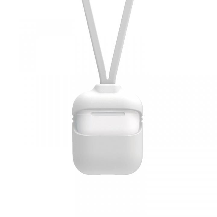 AirPodsケース Capsule 2way ストラップ付き ホワイト_0