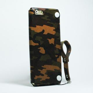 【iPhone6ケース】本革一枚で包み込むケース mobakawa レザーストラップ付き ヌメ カモフラージュ iPhone 6_1