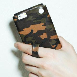 【iPhone6ケース】本革一枚で包み込むケース mobakawa レザーストラップ付き ヌメ カモフラージュ iPhone 6_2