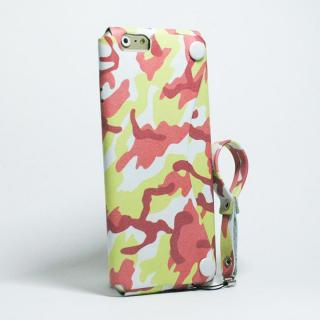 【iPhone6ケース】本革一枚で包み込むケース mobakawa レザーストラップ付き レッドカモフラージュ iPhone 6_1