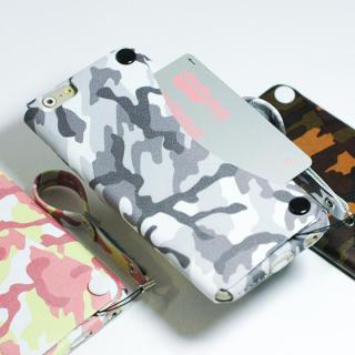 【iPhone6ケース】本革一枚で包み込むケース mobakawa レザーストラップ付き レッドカモフラージュ iPhone 6_3