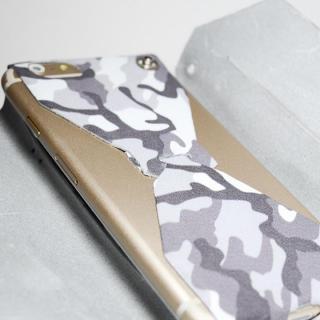 【iPhone6ケース】本革一枚で包み込むケース mobakawa レザーストラップ付き レッドカモフラージュ iPhone 6_5