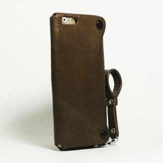 【iPhone6s/6ケース】本革一枚で包み込むケース mobakawa レザーストラップ付き イタリアンホース ダークブラウン iPhone 6s/6_1