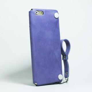 【iPhone6ケース】本革一枚で包み込むケース mobakawa レザーストラップ付き アッシュパープル iPhone 6_1