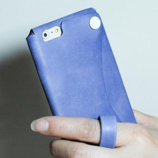 【iPhone6ケース】本革一枚で包み込むケース mobakawa レザーストラップ付き アッシュパープル iPhone 6_2