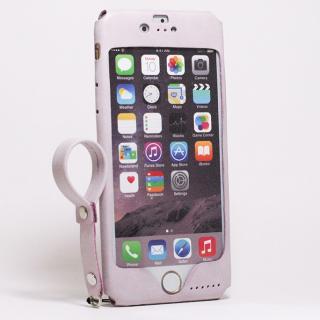 本革一枚で包み込むケース mobakawa レザーストラップ付き ラディアント・オーキッド iPhone 6s/6