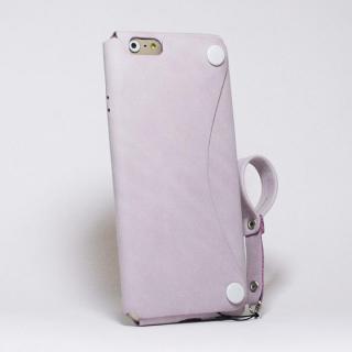【iPhone6s/6ケース】本革一枚で包み込むケース mobakawa レザーストラップ付き ラディアント・オーキッド iPhone 6s/6_1