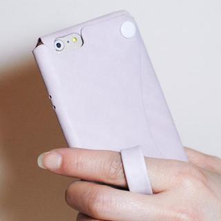 【iPhone6s/6ケース】本革一枚で包み込むケース mobakawa レザーストラップ付き ラディアント・オーキッド iPhone 6s/6_2