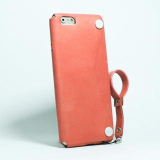 【iPhone6s/6ケース】本革一枚で包み込むケース mobakawa レザーストラップ付き アッシュオレンジ iPhone 6s/6_1