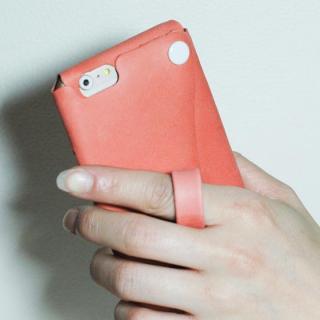 【iPhone6s/6ケース】本革一枚で包み込むケース mobakawa レザーストラップ付き アッシュオレンジ iPhone 6s/6_2