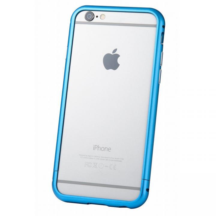 iPhone6s/6 ケース クリスタルアーマー メタルバンパー ブルー iPhone 6s/6_0