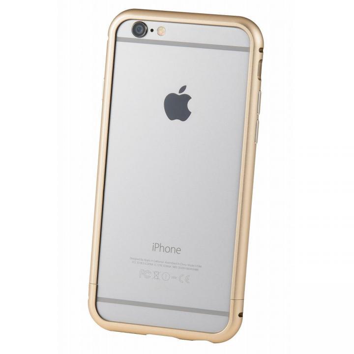 iPhone6s/6 ケース クリスタルアーマー メタルバンパー ゴールド iPhone 6s/6_0