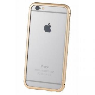 【iPhone6s/6ケース】クリスタルアーマー メタルバンパー ゴールド iPhone 6s/6