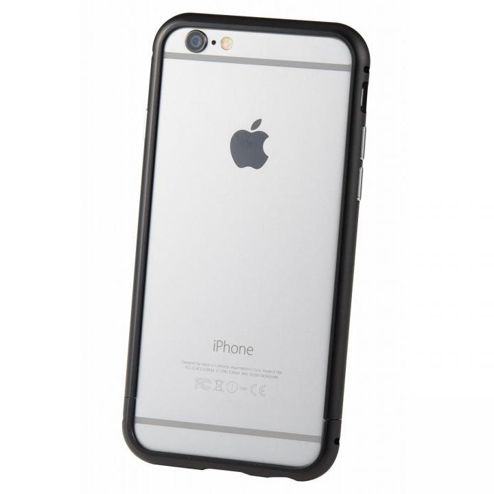 クリスタルアーマー メタルバンパー ブラック iPhone 6s/6