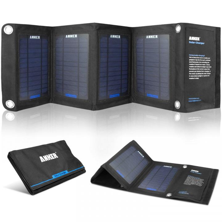Anker ソーラーパネルチャージャー デュアルポート搭載 折りたたみ式 iPhone/iPad_0